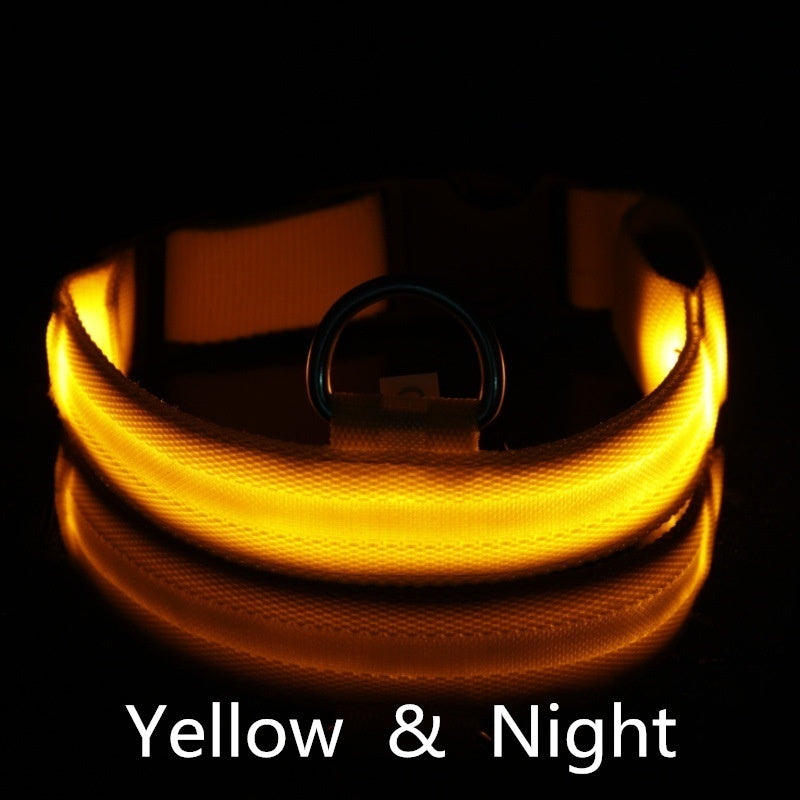 Pet Supplies LED Dog Collars Light Night Safety Light-up Flash Sport Collar For Dogs Cats Nylon Pet Dog Collar Glowing In Dark Cat Collar 3 Kinds optional light modes luminous fluorescence Dog Accessories