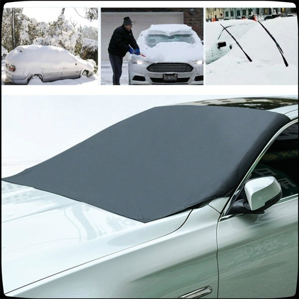 Magnetic Edges Car Snow Cover Frost Car Windshield Snow Cover Frost Guard Protector Car Sun Shade Cover Waterproof Windshield Protector Car/Truck/SUV