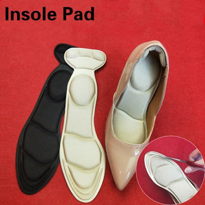 Non-Slip 2 in 1 Heel Cushion Inserts Heel Shoe Pads Women Heel Pads Non-Slip Insole Foot Care Tool