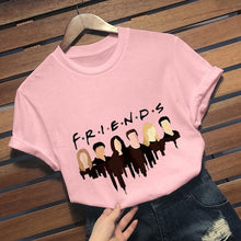 Load image into Gallery viewer, 2019 New Fashion Friends Tv Show T-Shirt Casual Short Sleeve Cartoon Printed Graphic Tee Shirt Friends T Shirt Tops