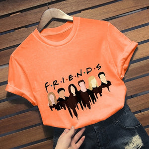 2019 New Fashion Friends Tv Show T-Shirt Casual Short Sleeve Cartoon Printed Graphic Tee Shirt Friends T Shirt Tops