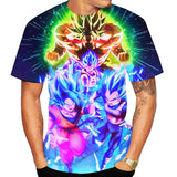 2019 New 3D Printed T Shirt Men Dragon Ball Z Goku/vegeta/broly/saiyan Casual Sport T-shirt Short Sleeve Unisex Tops