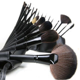 [ Women Professional and Daily ] 7pcs/12pcs/24pcs/32pcs Vander Soft Eyebrow Shadow Cosmetics Makeup Brush Set with Bag