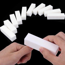 Load image into Gallery viewer, 1/5/10 PCS Women White Form Nail File Buffers Sanding Polishing Manicure for UV Gel Nail Polish DIY Nail Art Tools Nail Buffing Sanding Files Block
