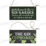 8 Kinds of Gin Signs Wooden Hanging Plaques Gift Bar Pub Man Cave Decoration 3.9'¡Á7.8'
