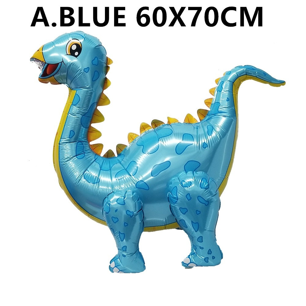 1pc 4D Assembled Walking Dinosaur Foil Balloons Jurassic Party Decoration Balls Birthday Party Decorations Kids Babyshower Decor Toys