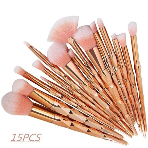 Profesional Makeup Brush Set Synthetic Foundation Powder Blush Eyeliner Brushes Kit