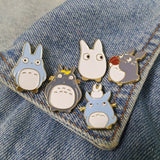 Childhood Cartoon          Neighbor  Lovely Totoro Chinchilla Brooch Button Pins Denim Jacket Pin Badge Animal Jewelry Gift