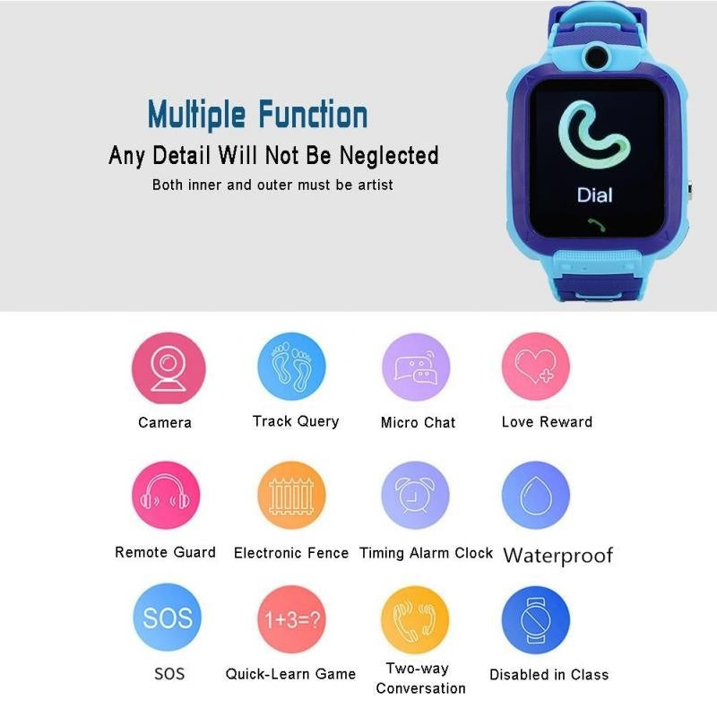 Upgraded Version!!! Waterproof Smart Watch Multifunction Children Digital Wristwatch
