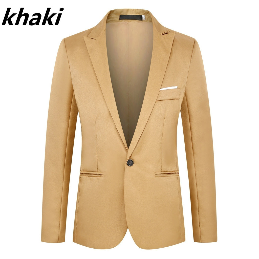 Men's Slim jackets Business Casual blazers Wedding Grooms Man's One Button Suit Jacket