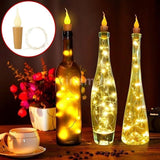2m LED Wine Bottle Cork Lights Candle Copper Wire Light Bottle Stopper Light LED String Lights for Wedding Christmas Holiday Festival Party Decoration