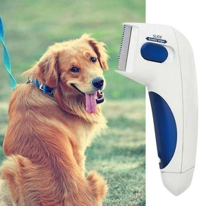 New Electric Cat Dog Terminator Removal Brush Kill Lice Cleaner Electric Head Pet Flea Lice Comb For Dog Electronic