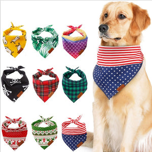 9 Styles Dog Bandana and Dog Summer Bandana Adjustable Pet Puppy Dog Bibs Scarf for Small Medium Large Dog