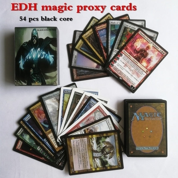 2018 hot Magic Cards Black Core Mtg Proxy Cards 54pcs EDH wizards cards Deck
