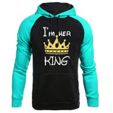 New high quality men and women fashion queen print hoodie couple hoodie sweatshirt