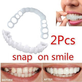 2Pcs New Reusable Snaps Perfect Smiley Whitening Dentures for Flexible Cosmetics Comfortable Retouching Dental Care Accessories
