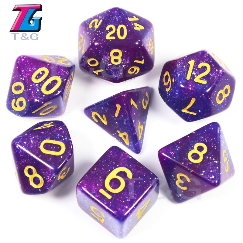 Cosmic Galaxy Concept Dice Polyhedral Pieces for RPG Dungeons & Dragons Game 56 PCS with Bag