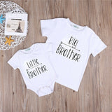 Fashion Cute Little Big Brother Matching Clothes Kids Baby Boys Romper Bodysuit T-shirt