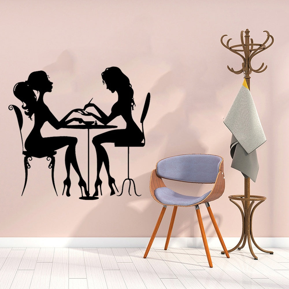Nail Beauty Salon Vinyl Removable Wall Sticker Wall Decor Art Wall Decals Nail Salons Decoration Accessories Stickers Mural
