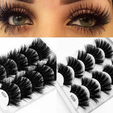 3D 25mm 5pairs Mink Long Extension Thick Eyelashes Natural Charm Handmade Makeup Fake Lash Beauty