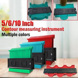 5/6/10/20 Inch 3D Mitre Angle Measuring Ruler Plastic Contour Gauge Duplicator Copy Irregular Shapes for Perfect Fit and Easy Cutting Profile Measuring Tool