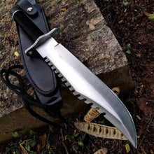 Load image into Gallery viewer, Wild Survival Fixed Blade Knife,Bowie Tactical Hunting Camping Knifes,w/Sheath