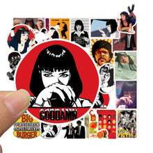 Load image into Gallery viewer, 100pcs/pack Classic Movie Stickers Pulp Fiction/The shining/Kill Bill/Shameless/Edward Scissorhands/Django Unchained/Fight Club/The Godfather/Leon Graffiti Stickers for Luggage Car Moto Laptop Bicycle Skateboard Stickers