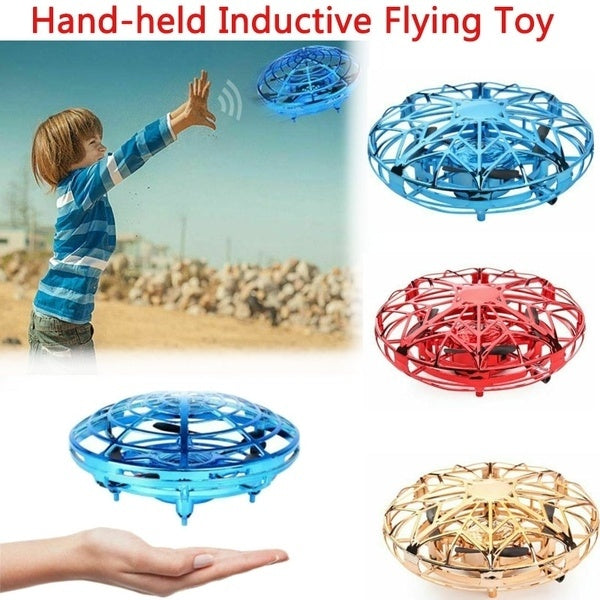 Infrared Induction Aircraft Mini Drone Navigation Hand Control Flight Helicopter Suspension UFO Four-axis Aircraft Remote Control Drone Toy Children