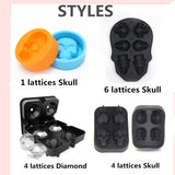 DIY Ice Mold 3D Creative Skull Soft Silicone Whisky Ice Mold Chocolate Candy Cavity Party Supplies
