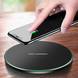 2019 NEW 15W Fast Charger Qi Wireless Charger Pad USB Charging Station Phone Charger for Iphone X Xs Max Xr 8plus 8 Samsung Galaxy S10 S9 S8 Note 9
