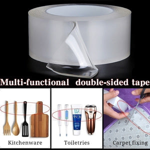 1m/3m/5m Nano Multi-functional Magic Double-sided Tape, Two-sided Traceless Washable Masking Tape Adhesive Tape Hot Sale