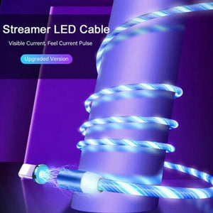3 In 1 Magnetic Absorption Data Cable 360-Degree Innovative Streamer