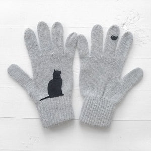 Warm Women Knitted Casual Gloves Female Winter Autumn Gloves Funny Animal Print Mitten Fashion Wrist Gloves