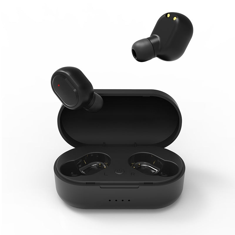[Bluetooth5.0, HIFI Surround] TWS Bluetooth Headset 6D Stereo Wirelss Earphones Waterproof Sport Headphones Mini Earbuds with Charging Case PK iPhone Airpods Flypods Freebuds