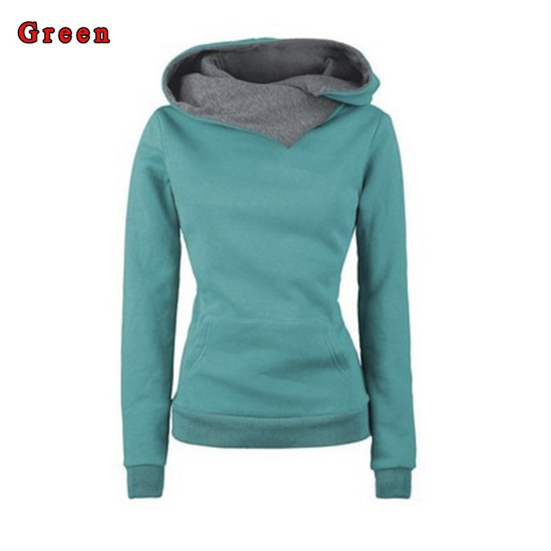 New Autumn Women's Fashion Hoodie Lapel High Collar Long-sleeved Hooded Sweatshirt Casual Pullover Shirt Sweatshirts for Women