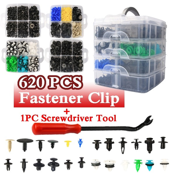 620PCS 24 Kinds Plastic Car Fastener Clips and Tools Car Spare Parts Car Rivets Tools