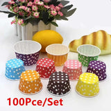 100pcs Paper Cake Cupcake Liner Case Wrapper Muffin Baking Cup for Party Wedding  7 Colors 3 size s& for choice
