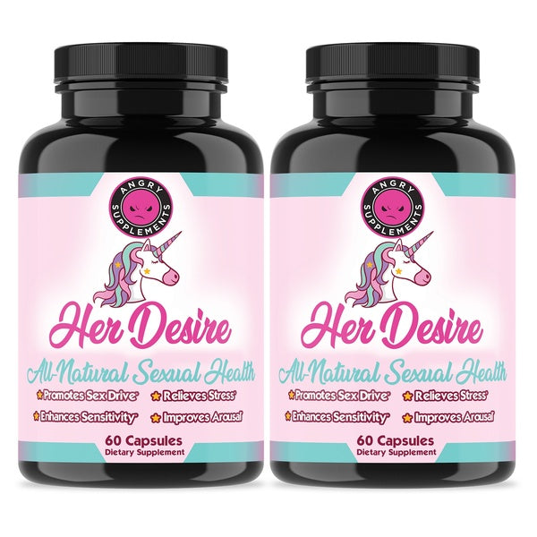 Women's Sexual Health w/ Her Desire Womens Sexual Enhancement Booster, 2-Pack