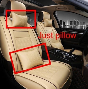 New Fashion Luxury Universal Leather Car Seat Cover Car Seat Cover Cushion Car Front Seat Cover Cushion Cover Car Interior Decoration Accessories