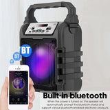 Brand New Outdoor Portable LED Light 3D Wireless bluetooth Speaker System Subwoofer Support Hands-free/USB/TF Card/AUX/FM Karaoke Machine Party Accessories