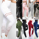Women's New Fashion High Waist Yoga Pants Slim Sports Fitness Leggings