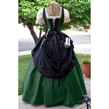 Load image into Gallery viewer, Plus Size S-5XL Women Medieval Bodice Gown Dress Short Sleeve Square Collar Renaissance Dress with Belt No Other Accessories