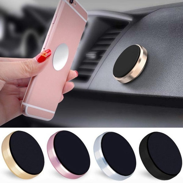 Mini Magnetic Metal Patch Car Mobile Phone Bracket Multifunction Magnet Suction