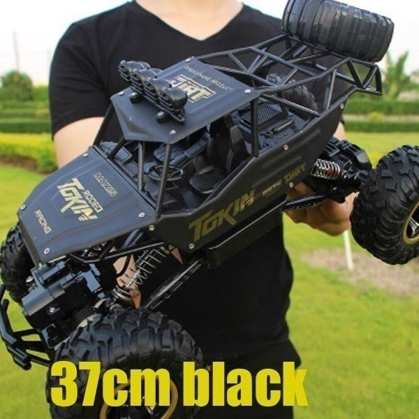 37cm 28cm Fashion Off-road Vehicle Toys 1:16 4WD RC Cars Alloy Speed 2.4G Radio Remote Control Cars Toys Alloy Suv Buggy High Speed Trucks Off-Road Trucks Toys for Children Gift Go-anywhere Vehicle Remote Control