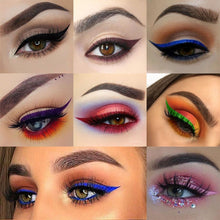 Load image into Gallery viewer, Double Head Waterproof Eyeliner Pen Brand evpct 1 Pcs Charming Cat Eye Winged Eyeliner Sexy Eye Cosmetic Seal Stamp Wing Tool Eye Makeup 7 Colors Black Brown Purple Blue Red Pink Green Eyeliner & Stamp