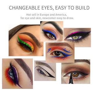 Double Head Waterproof Eyeliner Pen Brand evpct 1 Pcs Charming Cat Eye Winged Eyeliner Sexy Eye Cosmetic Seal Stamp Wing Tool Eye Makeup 7 Colors Black Brown Purple Blue Red Pink Green Eyeliner & Stamp