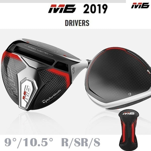 M6 Driver Golf 9/10.5 Degree R/SR/S Golf Shaft Assemble with Head Cover