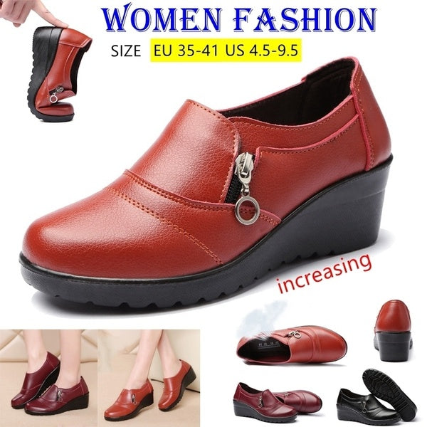 Plus Size Women Fashion Increase Shoes Casual Shoes Loafer Chaussures Femme Scarpe Da Donna Size 35-41