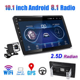 2 Din 10.1 inch Android 8.1 Universal Car Player GPS NAVIGATION Autoradio Built in WIFI Bluetooth Mirror Link +CAM
