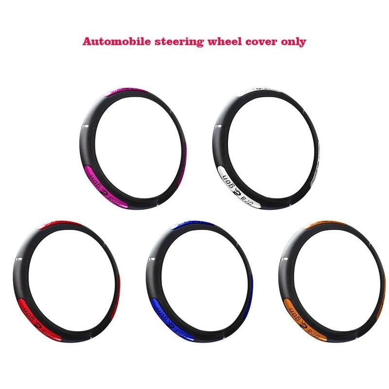 36cm-38cm Universal Faux Leather Adapted To Steering Wheel Diameter Car Steering Wheel Cover Case